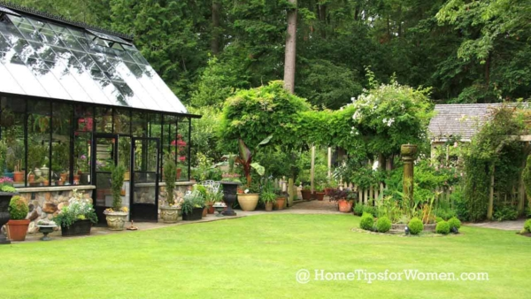 green houses once meant a glass enclosed structure for growing vegetables & flowers