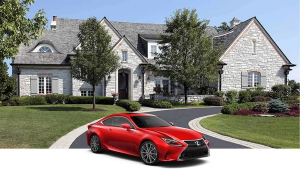 Gorgeous house, car & driveway thanks to driveway sealcoating