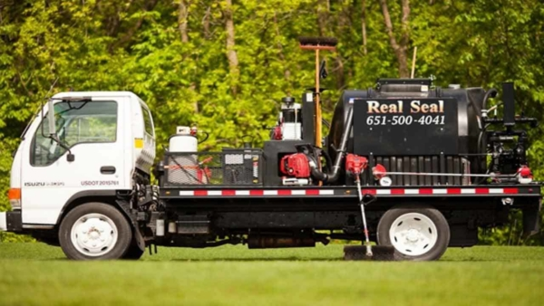 driveway sealcoating involves some heavy duty equipment to get the best results