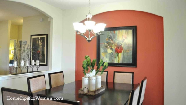 Choose a bold color for a single wall like in this dinging room