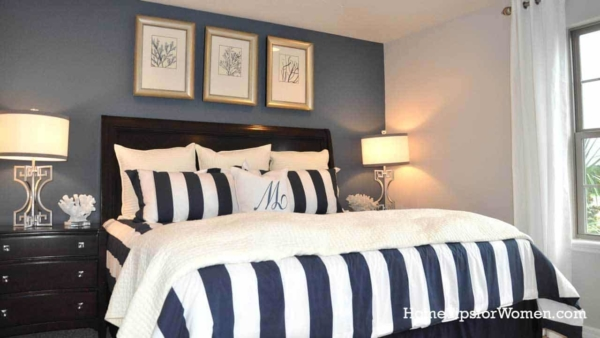 Picking wall paint using wow colors on an accent wall in bedroom