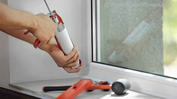 caulking windows is an important home maintenance step to help keep your home draft free