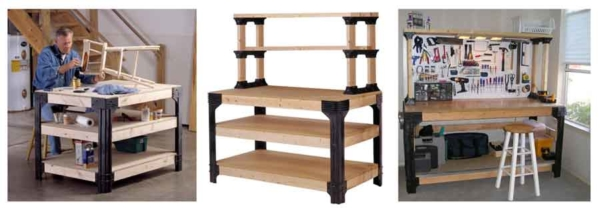 handyman workbench in a kit, cut to length and assemble ... perfect for garage organization
