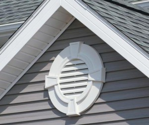 gable vents near the peak of the roof, allow warm & humid air to be replaced with cooler, dry air