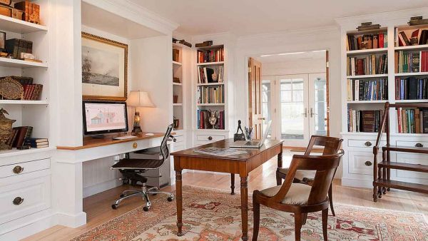 home office decorating becomes a bigger investment with built-ins