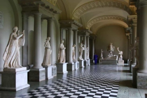 checkerboard floors are found in European palaces like this one in Stockholm