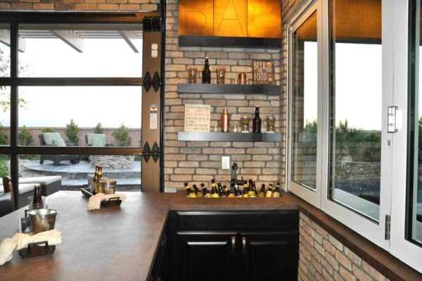 hangar patio doors can ward off cold weather while leaving you with a great view
