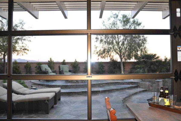 patio living with hangar patio doors can include lots of glass, or less if that's what you want