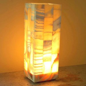 lovely alabaster mosaic light