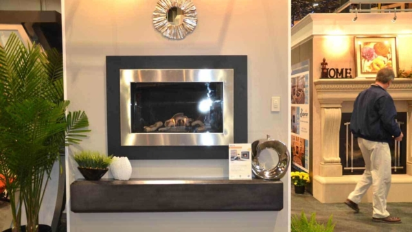new home improvement products include fireplaces mounted on the wall