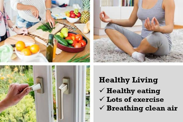 there are many tips on improving indoor air quality, which is just as important as eating right & exercising