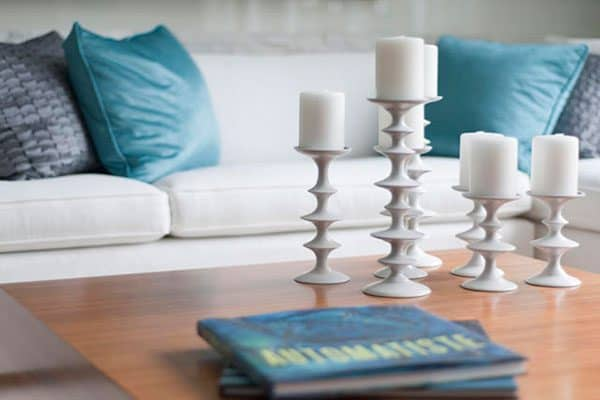 candles are pretty & one of the tips on improving indoor air quality is to never light them