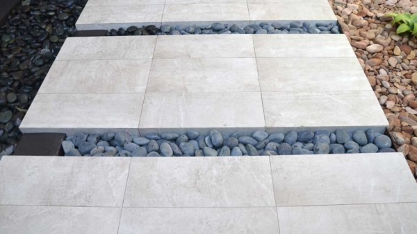 outdoor walkways can be fun when you use different stones & tile