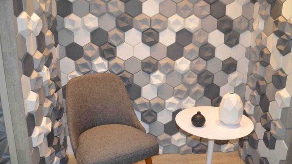 absolutely gorgeous tile is another type of home building products on display at IBS