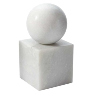 white marble accessories provide a simple touch of luxury