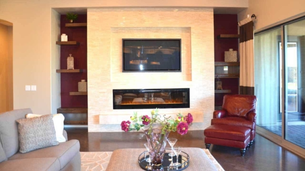 fireplace design trends now include the surrounding wall features