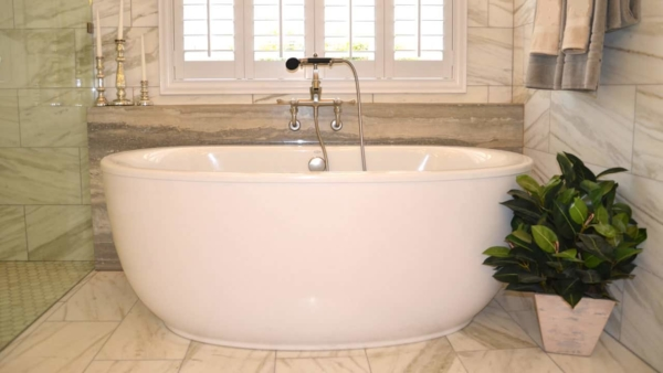home improvement trends for the bathroom continue to focus on free-standing bathtubs