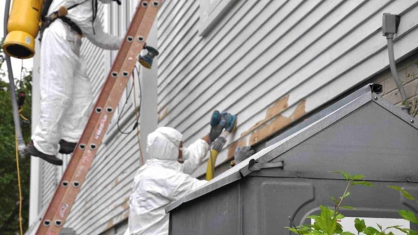 when any type of lead paint detection tests positive, you've got to wear protective gear when working with the paint