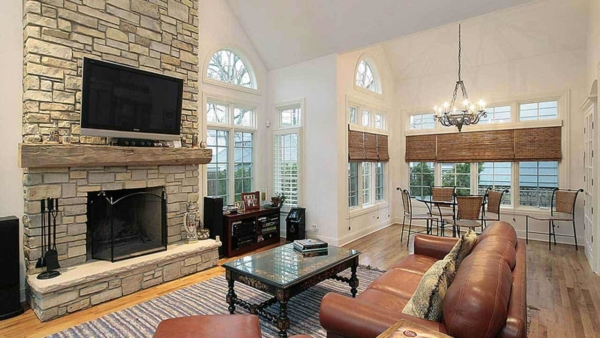 fireplace design trends include what goes above, and to the sides of the fireplace