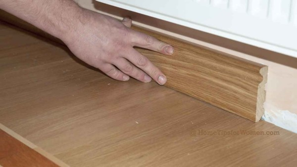 the last step to installing wood floors are the baseboards