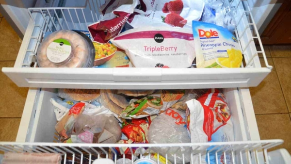 a refrigerator install was done wrong, preventing the freezer from keeping the food frozen