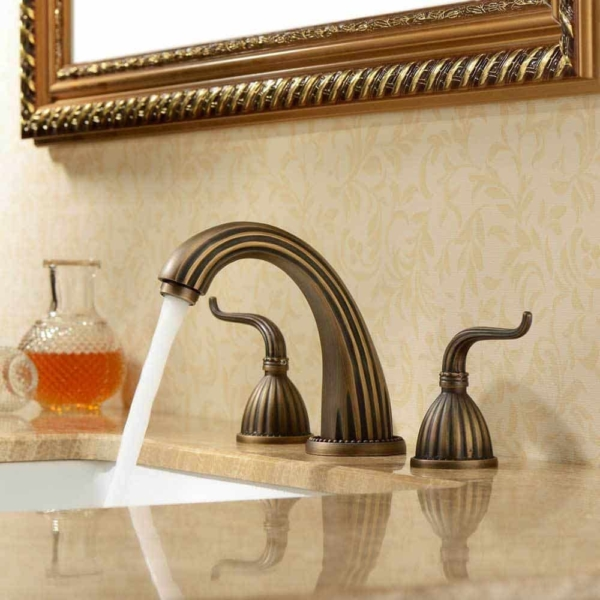 a unique faucet can give a small bathroom a lot of personality & we named this faucet the Cleopatra