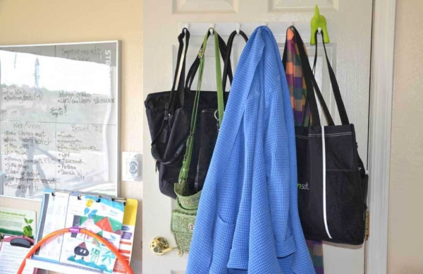 organizing with hooks works in almost any room of your house
