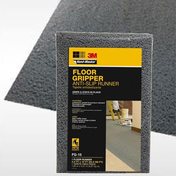 an innovative drop cloth, the 3M floor gripper is one of my new favorite painting tools