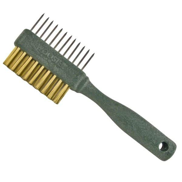 my favorite painting tools include those for cleanup like this wire brush
