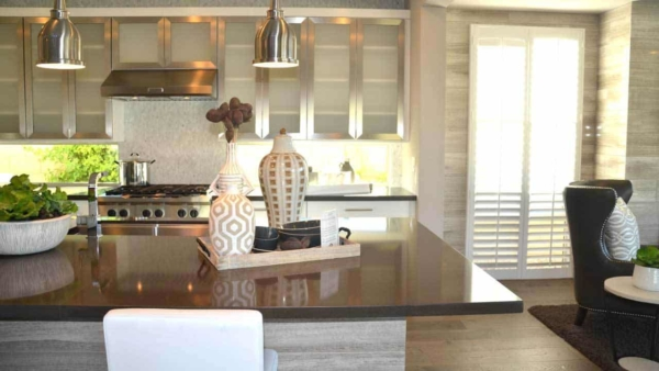 make sure to analyze the kitchens in model homes for great ideas like these windows where you expect a backsplash