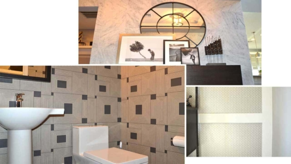 these model homes showed how you can mix & match different wall textures in one house