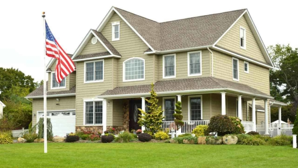 hanging a flag in your front yard can add a nice touch, especially when you're having company