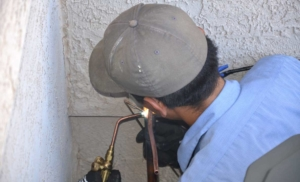 hvac installation uses brazing at high temperatures so copper pipes can withstand higher pressure