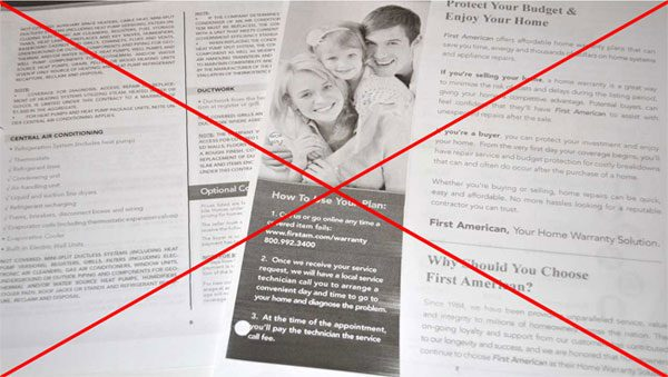 never use a home warranty company like first american, to maintain your central air conditioner