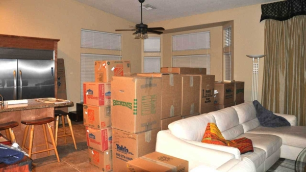 dealing with a home warranty company, an unethical HVAC contractor & unpacking is a bit challenging
