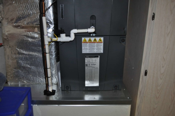 central air conditioner removes humidity which must be drained from the system