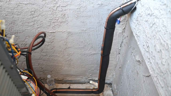when you connect new hvac systems or replace one of the units, you are brazing dual copper pipes called line set
