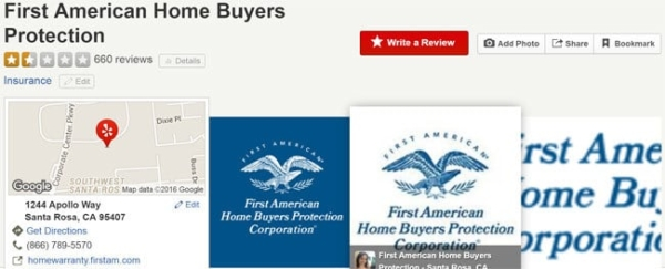 a home warranty company you can't trust, First American Home Buyers Protection ... not really!