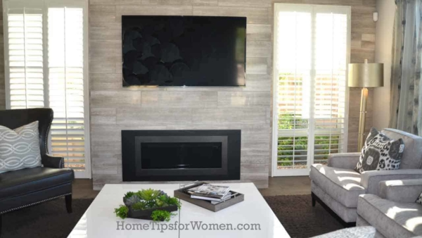 window sizes are now being influenced by other features in a room, like these windows wrapping the fireplace from floor to ceiling