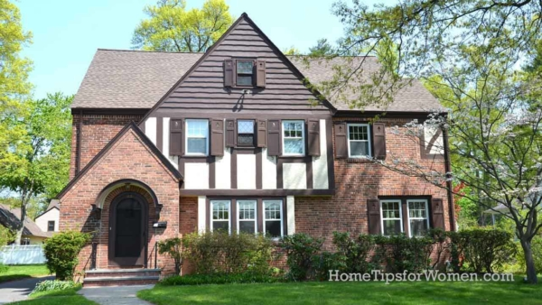 window shutters aren't necessary with tudor style homes which have lots of trim over stucco siding