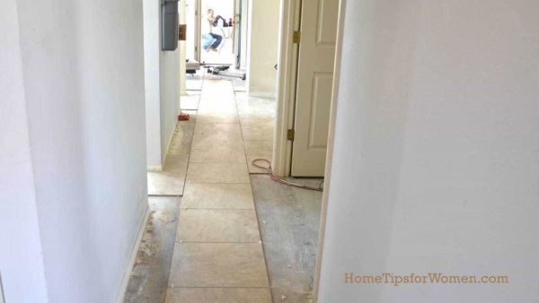 one of the most important tile tips is how you lay out the tile, based on what you see when entering a room