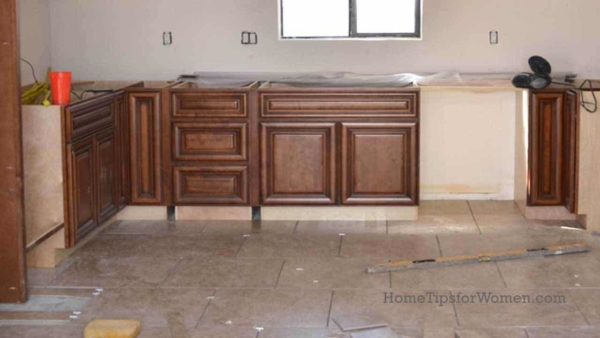 many homeowners need tile tips for installing a tile floor like the one shown here