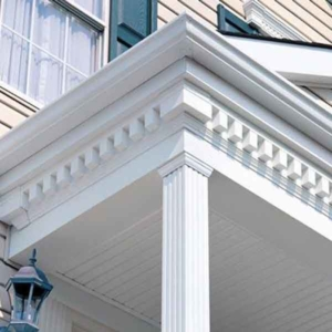 dentil molding is decorative trim you can use inside or outside your house