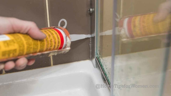 learn the right way to caulk to prevent shower door leaks