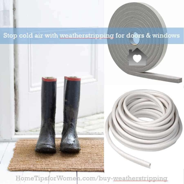 weatherstripping is the best solution for door & window gaps that let cold air (warm air in summer) into your house