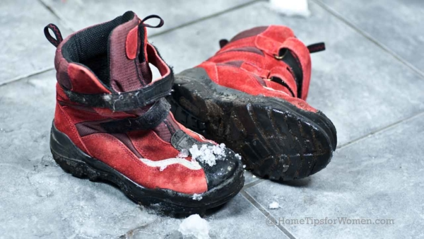 it's less work to protect your floors from winter boots that can cause damage
