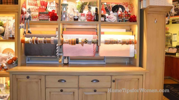 a great wrapping paper organizer makes it easy to pull off what you want & keep everything else organized