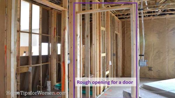 understanding how a door fits inside the rough opening makes it easier to understand sticky door problems