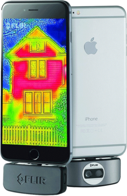 for diy homeowners, the flir is an iphone attachment recommended in home energy classes for realtors