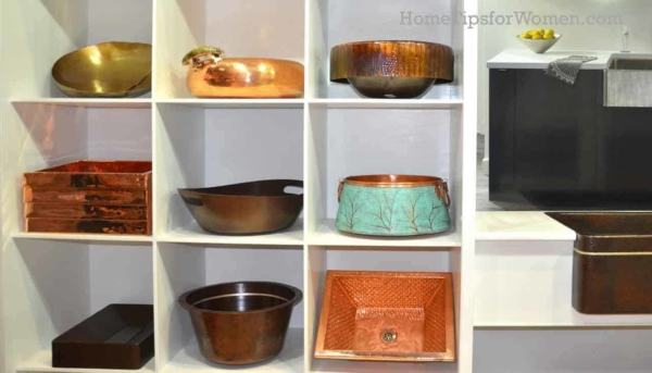 copper remains popular & they're following the home color trends by adding in a bit of color